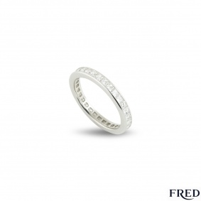 Fred Platinum Full Diamond Eternity Ring 1.92ct